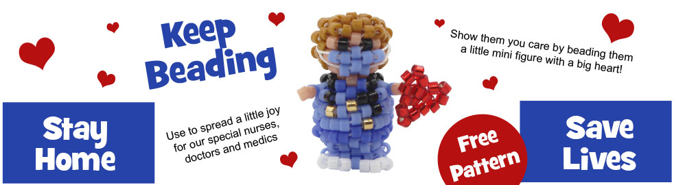 ThreadABead 3D Mini Doctor Nurse Medic Figure Bead Pattern