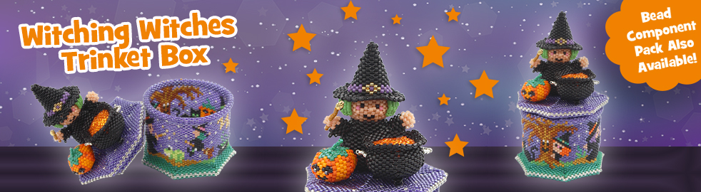 ThreadABead 3D Witching Witches Trinket Box Bead PAttern