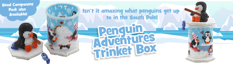 ThreadABead 3D Penguin Adventures Trinket Box Bead Pattern