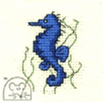 Mouseloft Stitchlets Seahorse Cross Stitch Kit