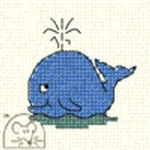 Mouseloft Stitchlets Whale Cross Stitch Kit