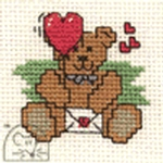 Mouseloft Stitchlets Sweetheart Teddy Cross Stitch Kit