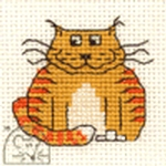 Mouseloft Stitchlets Fat Cat Cross Stitch Kit