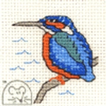Mouseloft Stitchlets Kingfisher Cross Stitch Kit
