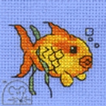 Mouseloft Stitchlets Goldfish Cross Stitch Kit