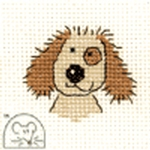 Mouseloft Stitchlets Cuddly Dog Cross Stitch Kit