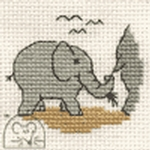 Mouseloft Stitchlets Baby Elephant Cross Stitch Kit
