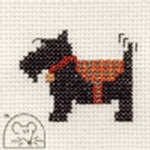 Mouseloft Stitchlets Scottie Dog Cross Stitch Kit