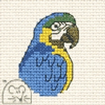 Mouseloft Stitchlets Blue Parrot Cross Stitch Kit
