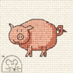 Mouseloft Stitchlets Pig Cross Stitch Kit