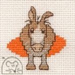 Mouseloft Stitchlets Farmyard Donkey Cross Stitch Kit