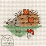 Mouseloft Stitchlets Snuffling Hedgehog Cross Stitch Kit