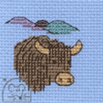 Mouseloft Stitchlets Highland Cow Cross Stitch Kit