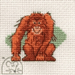 Mouseloft Stitchlets Orang-utan Cross Stitch Kit