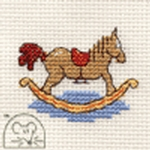Mouseloft Stitchlets Rocking Horse Cross Stitch Kit