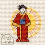 Mouseloft Stitchlets Oriental Lady Cross Stitch Kit