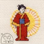 Mouseloft Stitchlets Oriental Lady Cross Stitch Kit