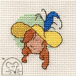 Mouseloft Stitchlets Yellow Hat Cross Stitch Kit