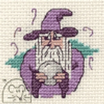 Mouseloft Stitchlets Wizard and Crystal Ball Cross Stitch Kit