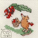 Mouseloft Stitchlets Blackberrying Mouse Cross Stitch Kit