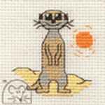 Mouseloft Stitchlets Meerkat Cross Stitch Kit
