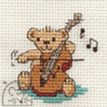 Mouseloft Stitchlets String Quartet Teddy Cross Stitch Kit
