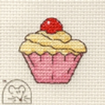 Mouseloft Stitchlets Cupcake Cross Stitch Kit