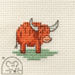 Mouseloft Stitchlets Little Highland Cow Cross Stitch Kit
