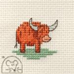 Mouseloft Stitchlets Little Highland Cow Cross Stitch Kit