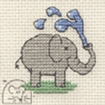 Mouseloft Stitchlets Playful Elephant Cross Stitch Kit
