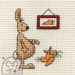 Mouseloft Stitchlets Rabbit Counting Carrots Cross Stitch Kit
