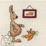 Mouseloft Stitchlets Rabbit Counting Carrots Cross Stitch Kit