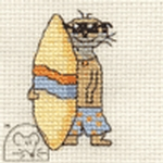 Mouseloft Stitchlets Surfing Meerkat Cross Stitch Kit
