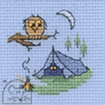 Mouseloft Stitchlets Camping Cross Stitch Kit