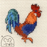 Mouseloft Stitchlets Cockerel Cross Stitch Kit
