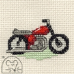 Mouseloft Stitchlets Red Motorbike Cross Stitch Kit
