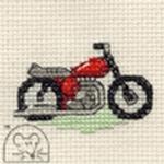 Mouseloft Stitchlets Red Motorbike Cross Stitch Kit