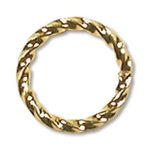 10mm Fancy Twisted Open Jump Ring Gold Plate (x12)