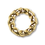 6mm Fancy Twisted Open Jump Ring Gold Plate (x12)