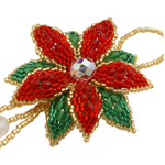 Poinsettia Christmas Ornament Beadwork Kit by ThreadABead