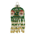 Green Santa Christmas Bauble Ornament