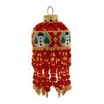 Red Snowman Christmas Bauble Ornament