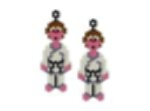 Black Belt Karate Earrings