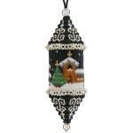 Winter Scene Christmas Drop Ornament