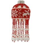 Festive Fair Isle Style Christmas Square Stitch Bauble Ornament
