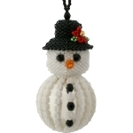 Icy the Snowman Bauble Ornament Pattern