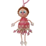 Crystabella The Little Beaded Peyote Doll Ornament