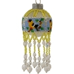 Yellow Finch Bird Bauble Ornament
