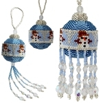 Snowman Bauble with 3cm Beaded Bauble Instructions