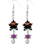 Witch Star Dangly Earring Pattern